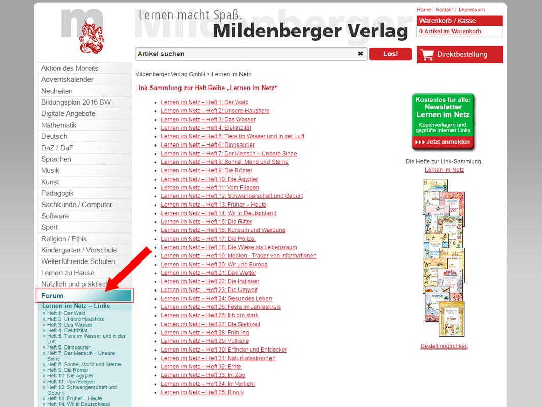 Mildenberger Bildungswelt Linksammlung