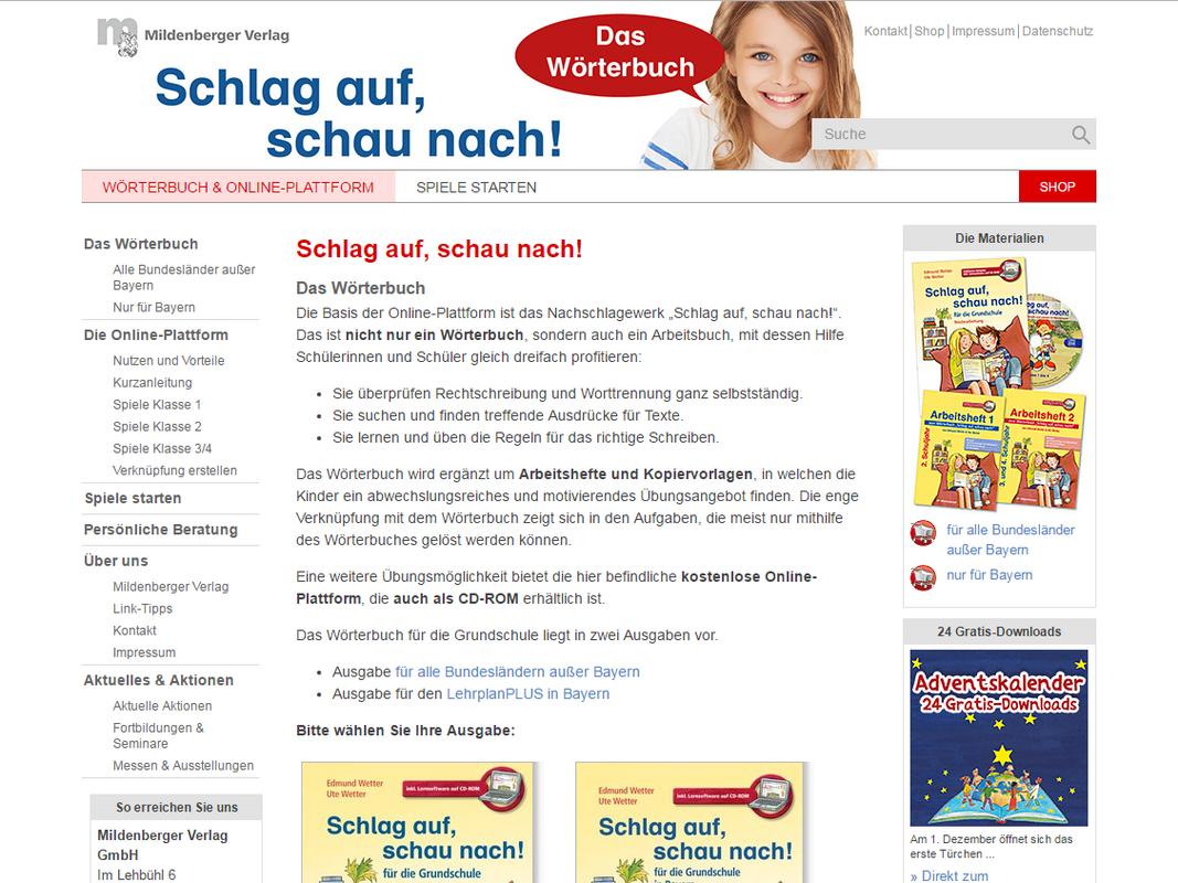 Mildenberger Bildungswelt: Schlag auf, schau nach!